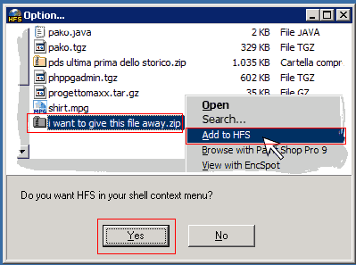 Easy method to create http file sharing server using hfs http select yes pronofoot35fo Gallery