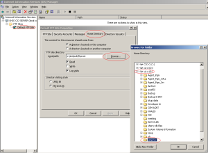 Howto Add Folder in FTP/IIS