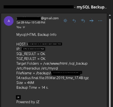 backup using bashs cript