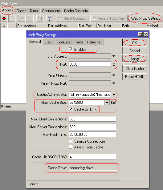 Howto to enable Mikrotik RouterOS Web Proxy in Transparent Mode (4/6)