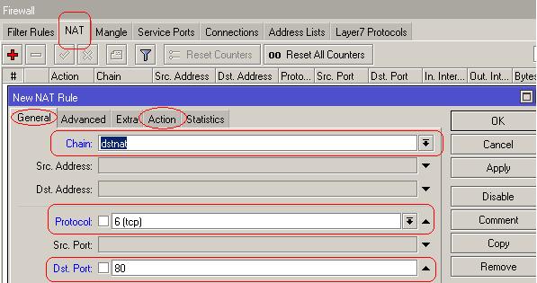 Web proxy layer 7 mikrotik