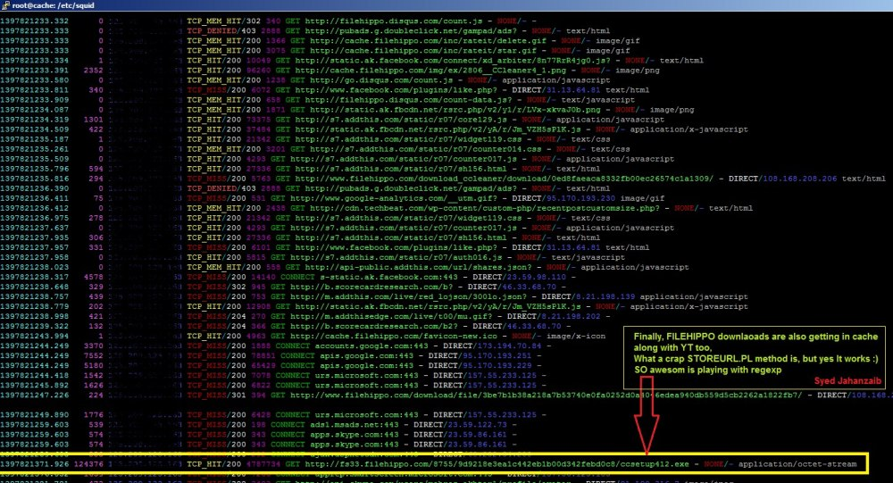 Howto Cache Youtube with SQUID / LUSCA and bypass Cached Videos from Mikrotik Queue [April, 2014 , zaib] (5/6)