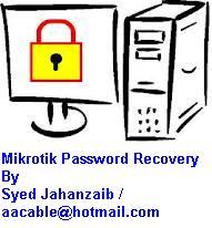 Howto Recover Mikrotik ADMIN account Forgotten Password (1/6)