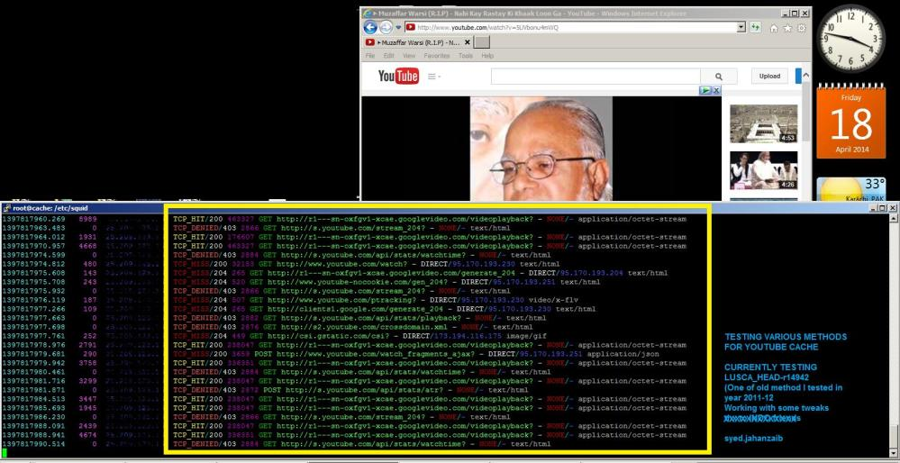 Howto Cache Youtube with SQUID / LUSCA and bypass Cached Videos from Mikrotik Queue [April, 2014 , zaib] (3/6)