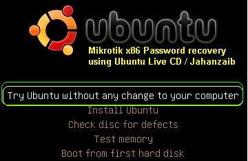 Howto Recover Mikrotik ADMIN account Forgotten Password (3/6)