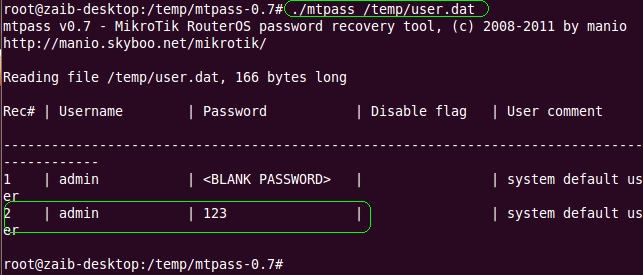 Howto Recover Mikrotik ADMIN account Forgotten Password (6/6)