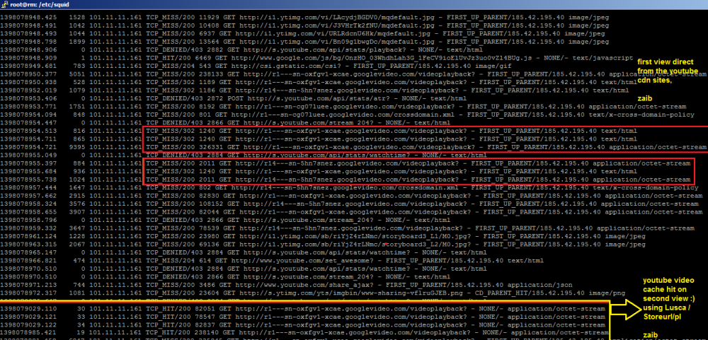 Howto Cache Youtube with SQUID / LUSCA and bypass Cached Videos from Mikrotik Queue [April, 2014 , zaib] (4/6)