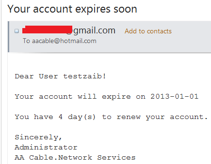 1- Account Expire Warning