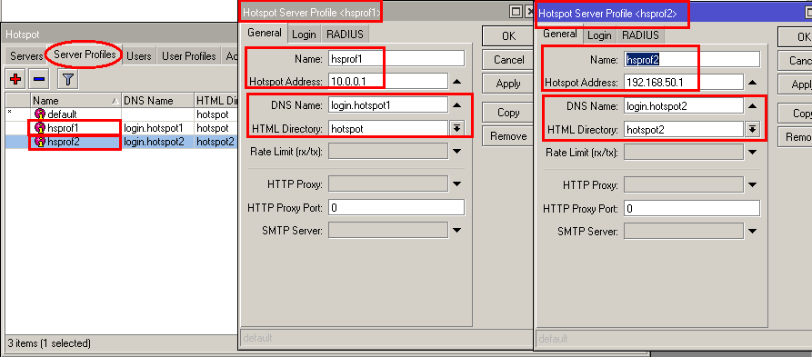 Different Login page for multiple network on Mikrotik