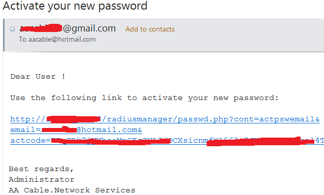 3- Recover password by email