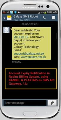 DMASOFTLAB Radius Manager 4 0 4/4 1 x SMS Notification Configuration