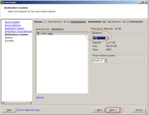 7- select datastore