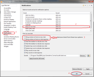 how to change lotus notes sametime password