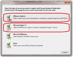 select-server-type