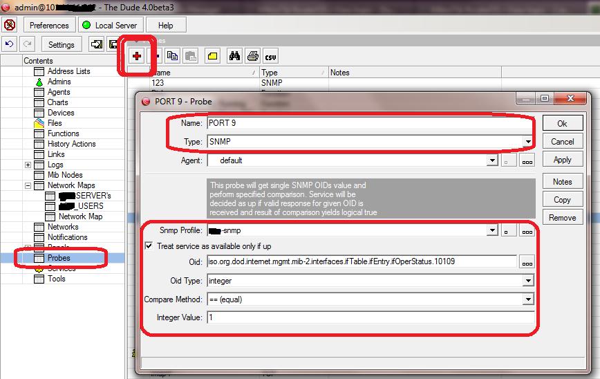 Monitor Switch Ports Up/Down Status via Mikrotik Dude – Short Notes