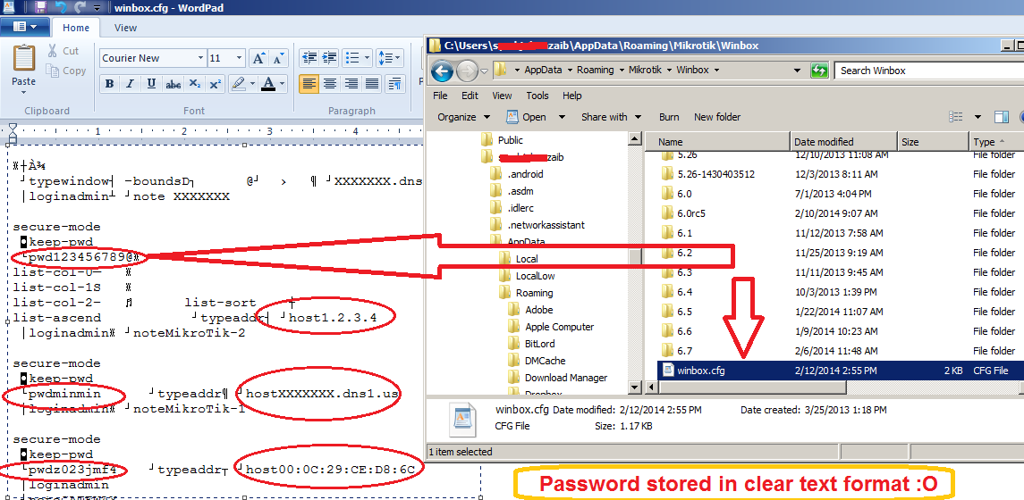 Quick Note on Winbox Save Password Security Issue  | Syed
