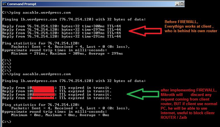 1- block client router