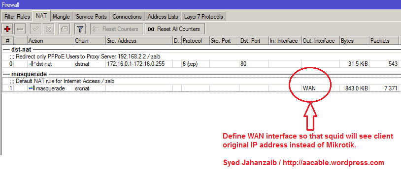 Howto connect Squid Proxy with Mikrotik with Single Interface (4/5)