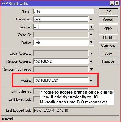 VPN/PPTP Static Routes Loose gateway when client reconnects | Syed