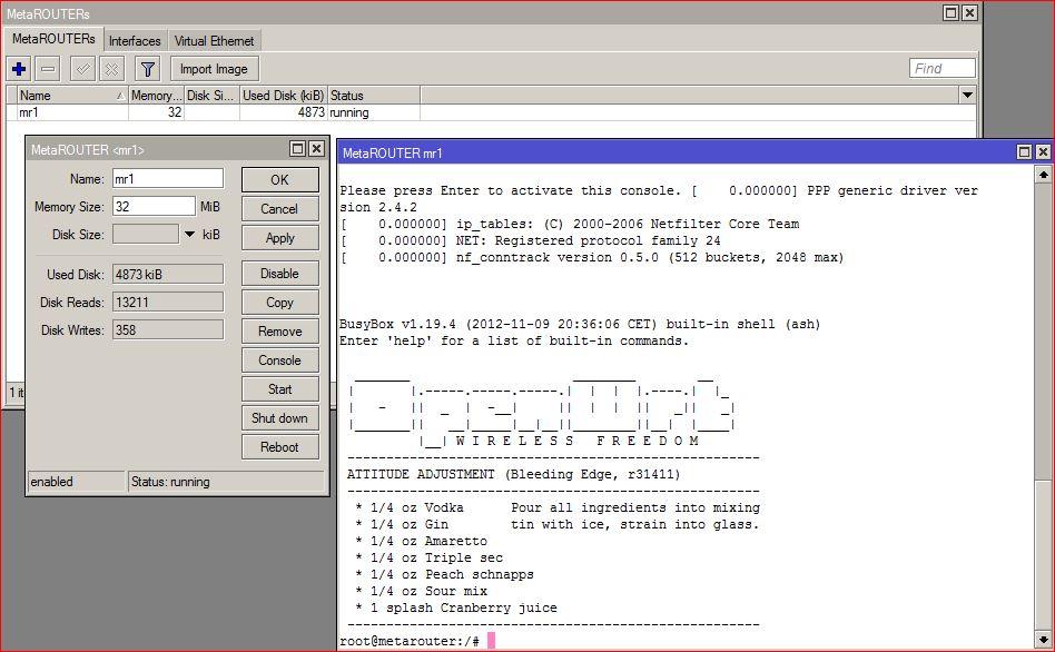 6- Open Metarouter CONSOLE zaib