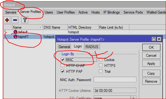 Mikrotik Hotspot User auto login-by MAC with redirection using
