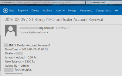 1 - email alert