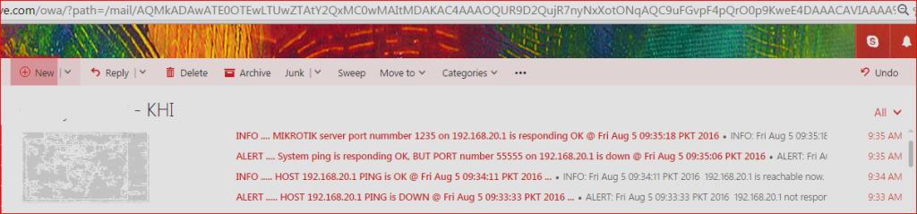 3- mail alert