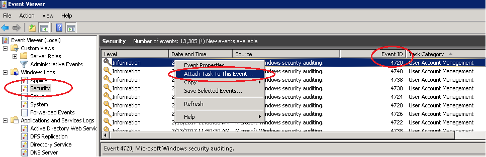 1- accoutn creation - attach batch file via event viewer.png