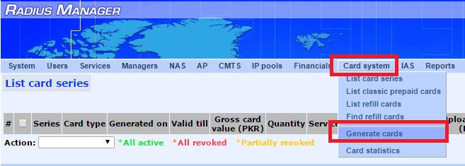 1- refill card menu