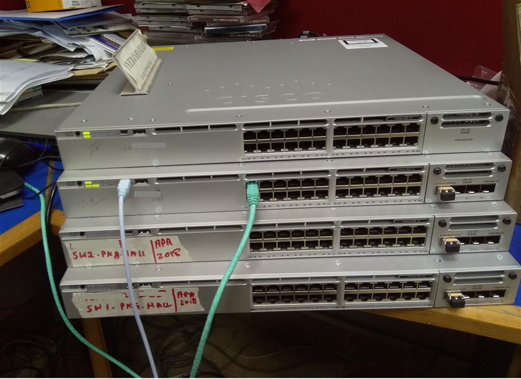 Short Notes for Cisco 3850-24T IOS XE Upgrade & Stack