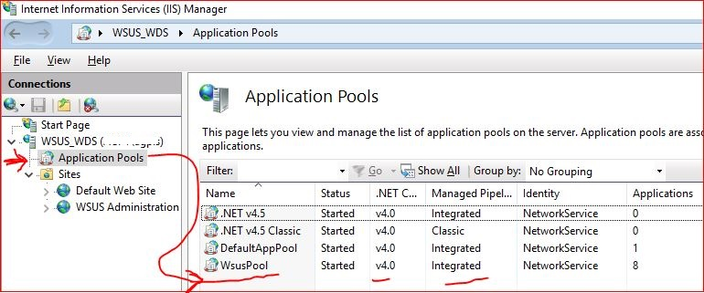wsus pool does not exists.JPG
