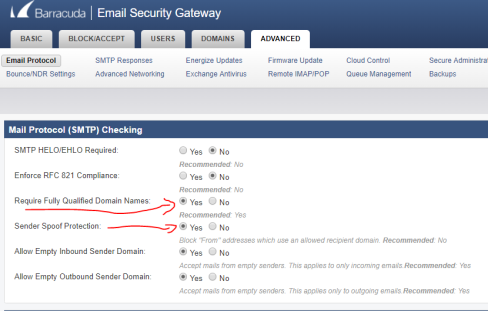 Barracuda Email Security Gateway – Short Notes | Syed